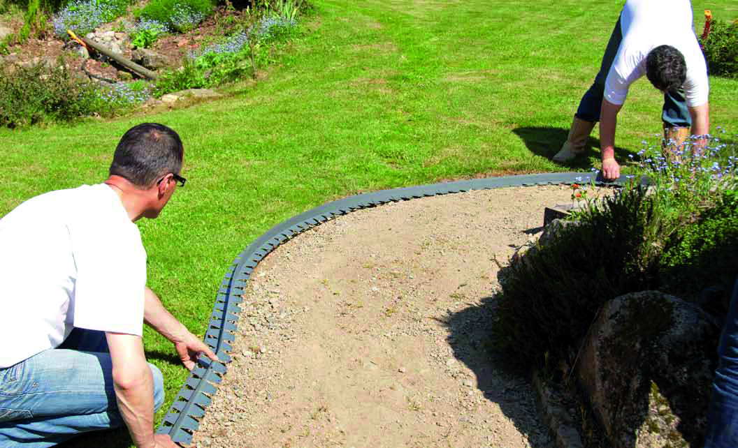 Bordures - Faire une bordure de jardin ...
